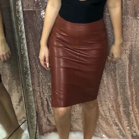 5f0a401b53 Zara Skirts | Chocolate Brown Pencil Skirt All Offers Welcome | Poshmark